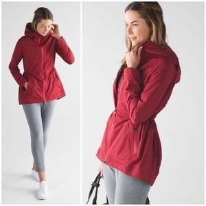 Rare Lululemon Rain For Daze Jacket Prep Red